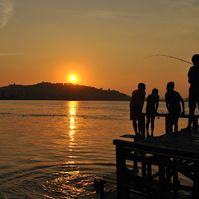 Fishing together. by Arief Tisnadi Wasono - People Group/Corporate