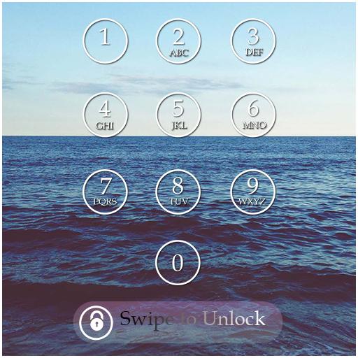 Ocean Passcode Lock Screen