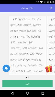 Solo Font Galaxy - screenshot