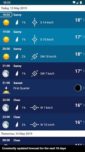 Weather XL PRO Switzerland screenshot