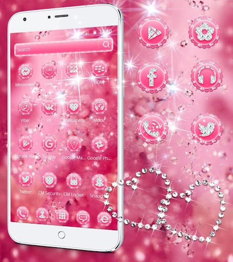 Pink Diamond Theme Wallpaper Glitter 1.1.2 5