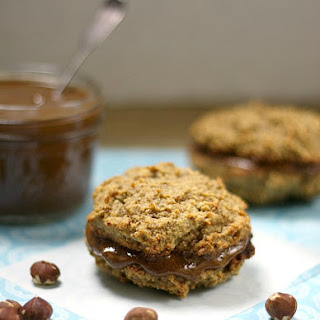 Hazelnut Nutella Sandwich Cookies.