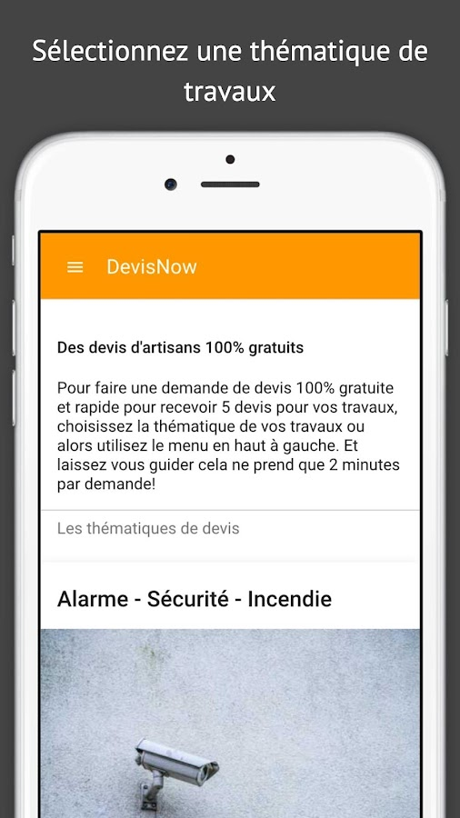 DevisNow- screenshot