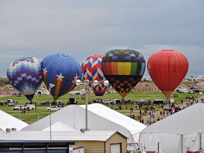 Photo: the balloon field right in front of our coaches