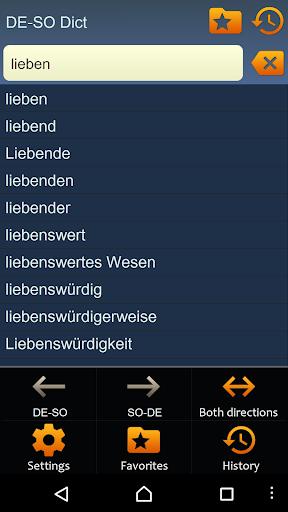 German Somali dictionary