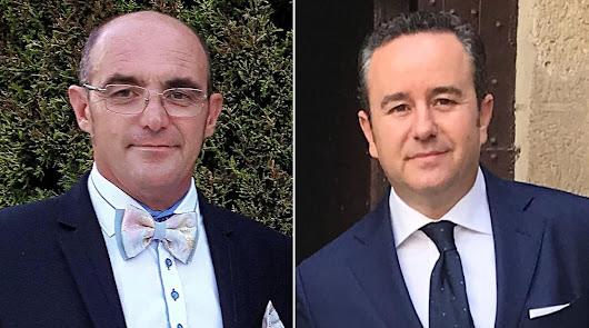 Los candidatos: Joaquín Berenguel, foto izquierda; y Jorge Juan Fernández Compán, foto derecha.