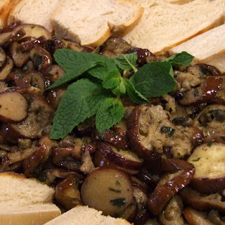 Marinated Eggplant with Capers and Mint.