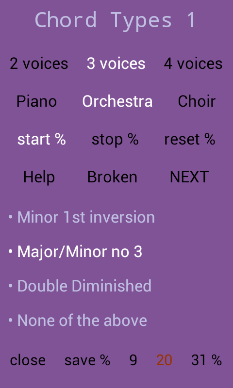 Recognize Chord Types by Ear 1- screenshot