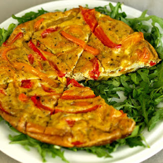Peppers Frittata (anti-candida diet).