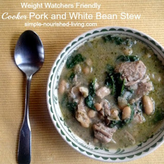 Italian Slow Cooker Pork and White Beans Stew