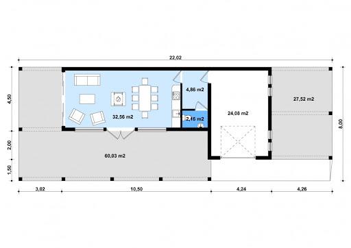 G183 - Budynek rekreacyjny - Rzut parteru