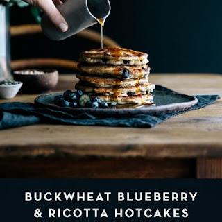 Buckwheat Blueberry & Ricotta Hotcakes with Maple & Seeds Recipe