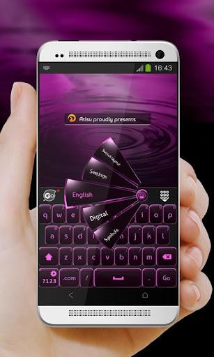 黒とピンク GO Keyboard