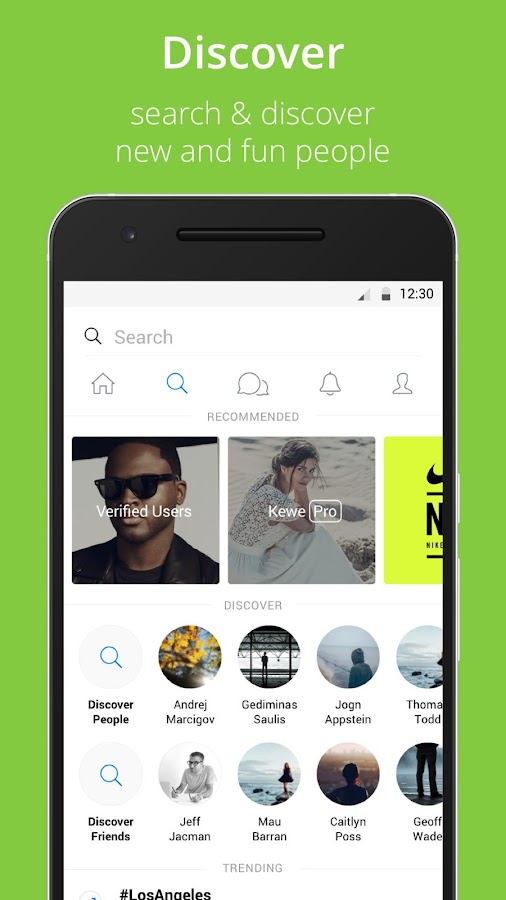 Kewe Messenger- screenshot