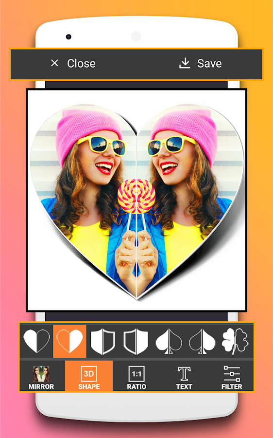 Photo Collage Maker Editor & Mirror Photo Maker- screenshot