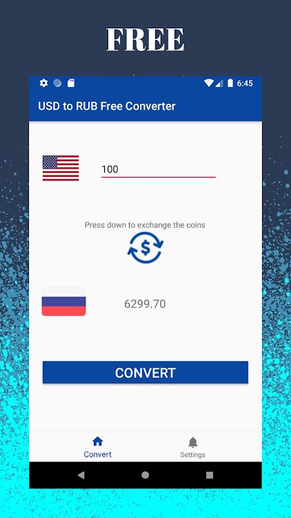 Dollar Usd To Russian Ruble Rub Free