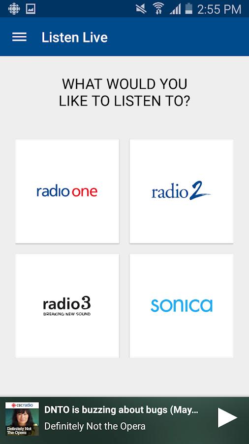 CBC Radio- screenshot