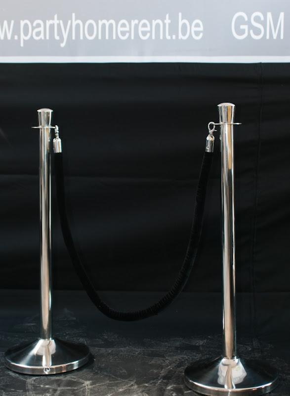 Set van 2 afzetpalen Elégance met 1 koord
