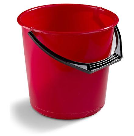 Hink 10 liter Nordiska Plast - Röd