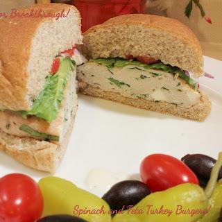 Spinach and Feta Turkey Burgers!