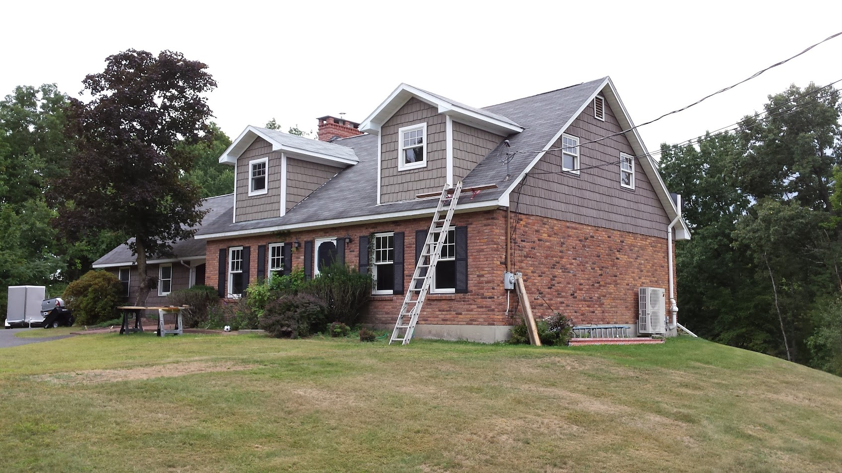 Dormers have siding