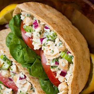 Tuna and Chickpea Pita Sandwiches
