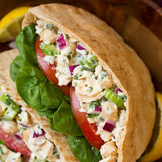 Tuna and Chickpea Pita Sandwiches.