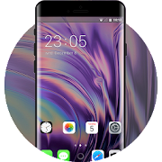 Theme for Phone XS IOS12 newest purple shining icon