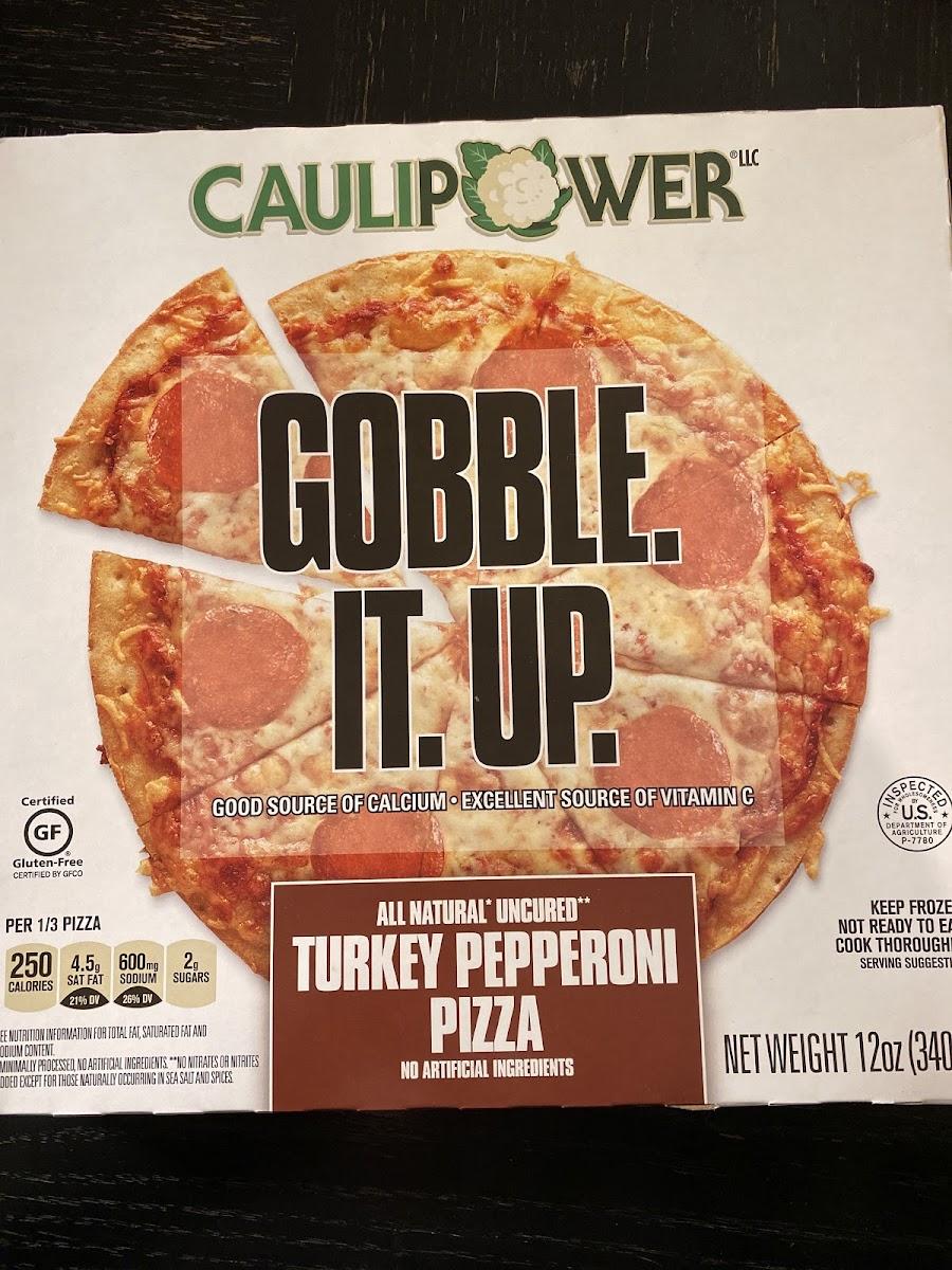 Turkey Pepperoni Pizza