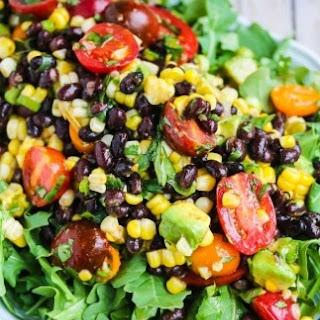 Chipotle Black Bean Tomato Corn Avocado Salad