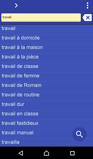 French Hausa dictionary 3.97 screenshots 1