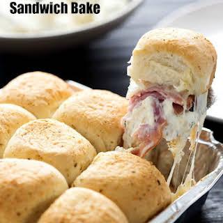 Cheesy Ham and Garlic Sandwich Bake.