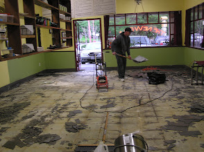 Photo: Former New Deli employee Travis went into the flooring business. So we re-hired him for this job!