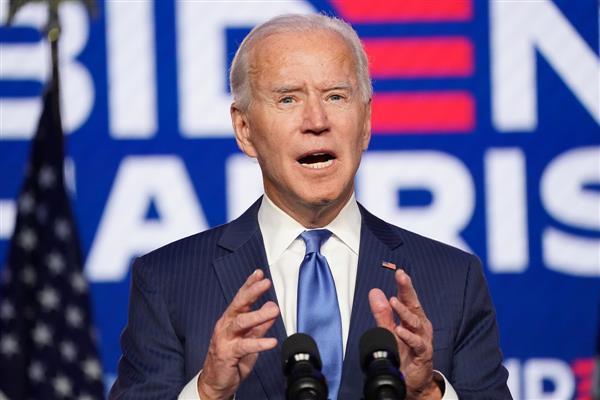 President-elect Joe Biden addressing the Nation./FILE
