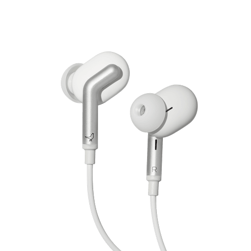 White Libratone USB-C Earphones
