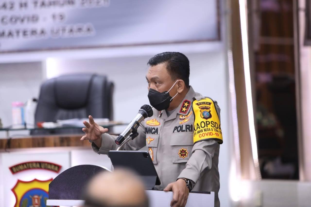 Kapoldasu, Wagubsu dan Pangdam I/BB Rapat Koordinasi Pengamanan Idul Fitri