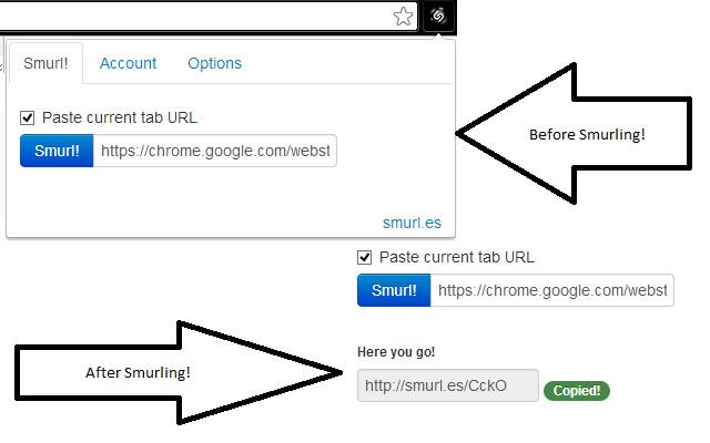 Smurl.es URL Shortener on Chrome!