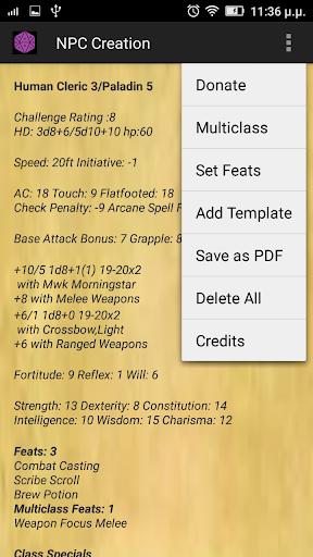 DnD 3.5 NPC Generator 3.5 screenshots 8