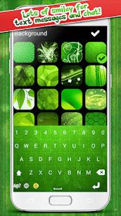 Green Emoji Keyboard Themes - náhled