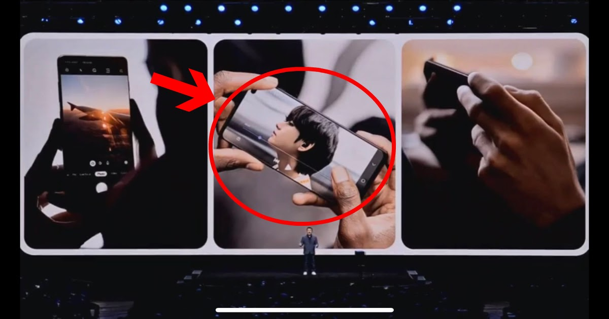 Bts V S Picture Spotted In The Samsung Galaxy Unpacked 2020 Event Koreaboo