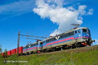 Photo: Freight train with Swedish RC locomotive