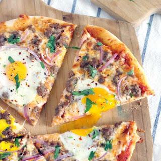 Sausage Breakfast Pizza.
