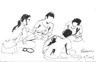 Photo: 桃少輔成長營之說說看2011.07.28鋼筆畫 說說看,什麼是愛?什麼是生命?