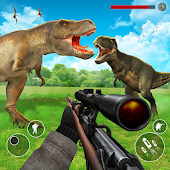 Dinosaurs Hunter Jungle Animals Sniper Safari