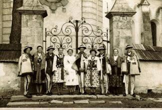 Photo: Wesele Marii i Jana HAJNOS- 1950 R.zdjęcie zrobione przed kościołem w Szaflarach