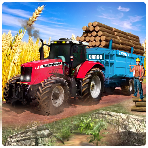 Heavy Duty Tractor Cargo Transport 3D