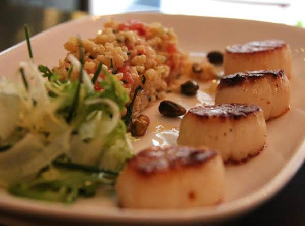 Lulu's Pan-roasted Sea Scallops From Chef Karen's Recipe