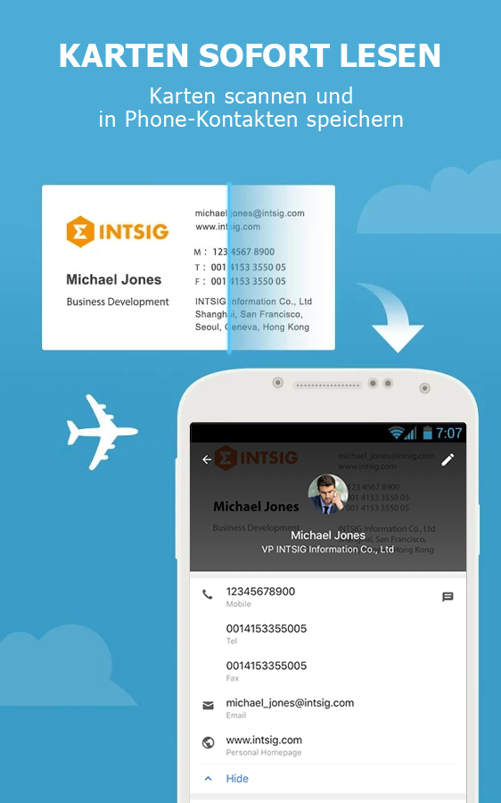 CamCard Lite - Business Card R – Screenshot