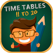Multiplication Tables 11 to 20 - Math Times Tables