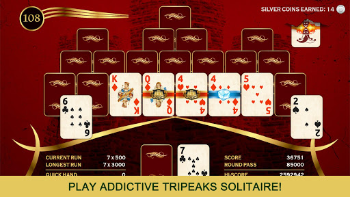 Towers TriPeaks: Classic Pyramid Solitaire  screenshots 1